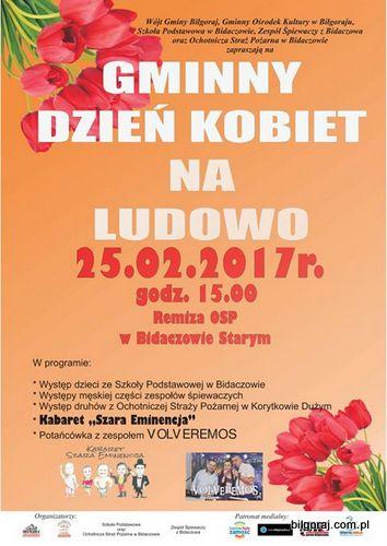 Zapraszamy na Gminny Dzieñ Kobiet na Ludowo, który odbêdzie siê 25 lutego w Bidaczowie Starym.