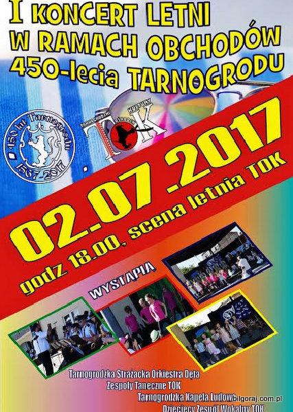 Koncert letni na scenie TOK Tarnogród.