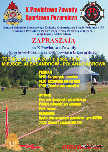 Zawody sportowe - po¿arnicze w Aleksandrowie.