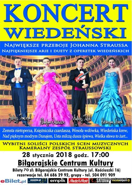 Najwiêksze przeboje Johanna Straussa, najpiêkniejsze arie i duety z operetek wiedeñskich 28 stycznia, godz. 17.00, sala widowiskowa BCK, bilet 70 z³.