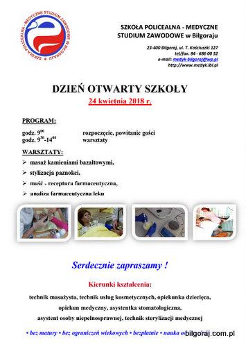 Dzieñ otwarty w Medycznym Studium Zawodowym w Bi³goraju.