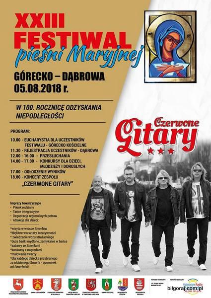 XXIII Festiwal Pie¶ni Maryjnej Górecko - D±browa.