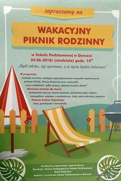 Piknik rodzinny w Dere¼ni.
