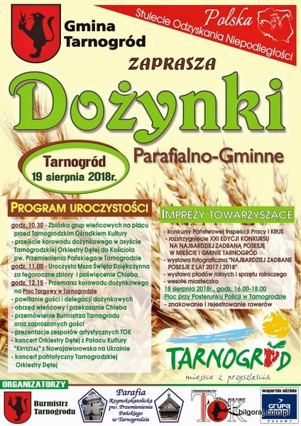 Do¿ynki gminno - parafialne w Tarnogrodzie.