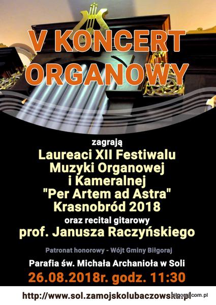 V Koncert organowy w Soli.