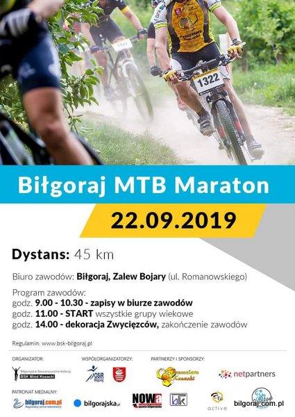 Zawody MTB Maraton. Bi³goraj - Zalew Bojary.