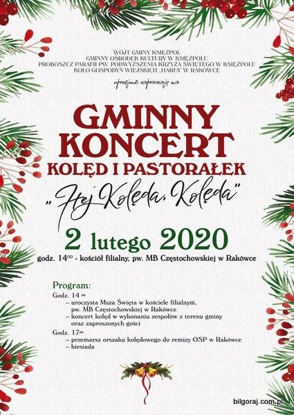 Gminny koncert kolêd i pastora³ek w Rakówce.