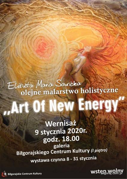 """""""Art of New Energy"""", to tytu³ wystawy malarskiej El¿biety Marii Sawickiej, której wernisa¿ odbêdzie siê w galerii Bi³gorajskiego Centrum Kultury 9 stycznia o godzinie 18.00. Wstêp na wydarzenie jest wolny. Wystawa bêdzie czynna dla zwiedzaj±cych do 31 stycznia."""
