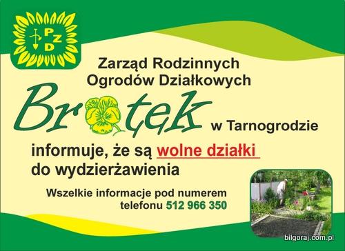 W Tarnogrodzie mo¿na wydzier¿awiæ ogród dzia³kowy.