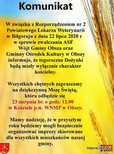 Do¿ynki gminne w Obszy.