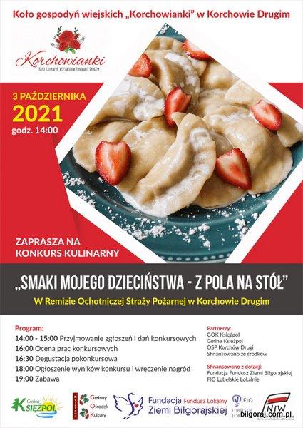 """Konkurs kulinarny """"Smaki mojego dzieciñstwa - z pola na stó³""""."""